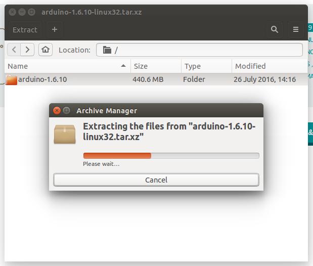 linux extract - Установка Arduino (IDE) на ПК з Linux фото